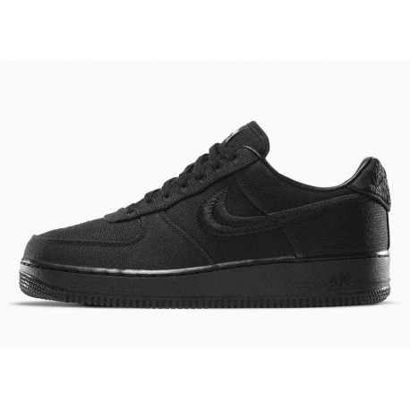 Stussy x Nike Air Force 1 Low Triple Negro para Hombre y Mujer