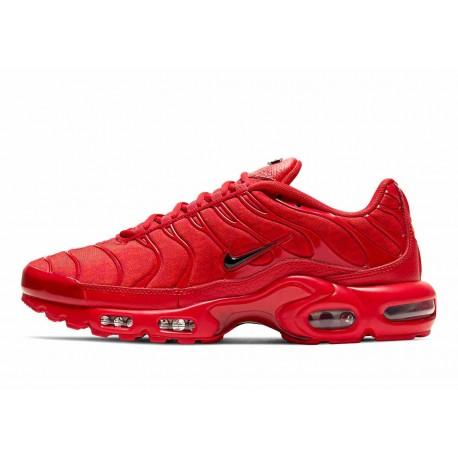 Nike Air Max Plus Todo Rojo Con Letra TN para Hombre