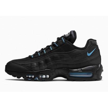 Nike Air Max 95 Negro Láser Azul para Hombre