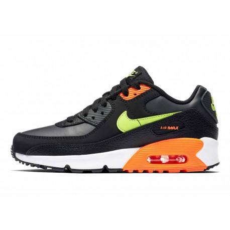 Nike Air Max 90 Noche de Travesuras Negro Naranja Verde para Hombre