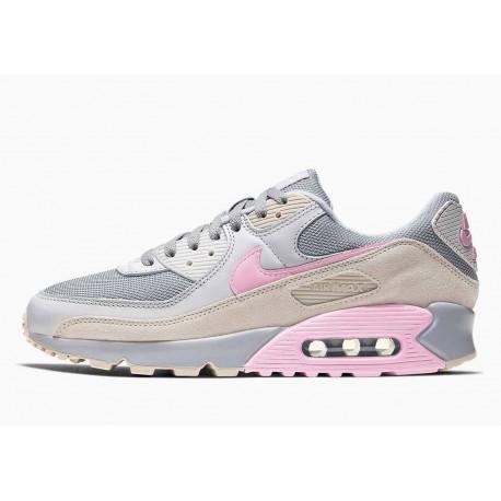 Nike Air Max 90 Gris Vasto Rosa para Mujer