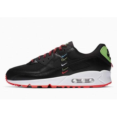Nike Air Max 90 Paquete Mundial Negro Carmesí Flash para Hombre