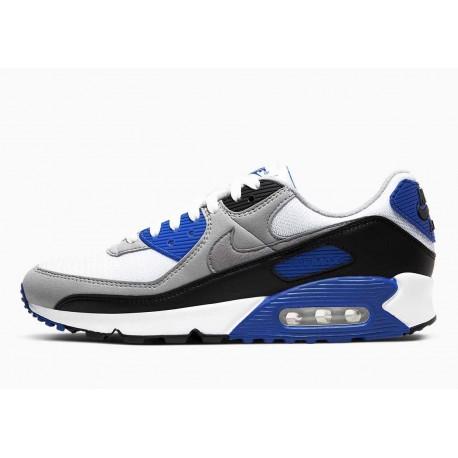 Nike Air Max 90 Hiper Royal Blanco Gris Partícula Azul para Hombre y Mujer