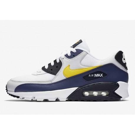 Nike Air Max 90 Essential Michigan Blanco Azul Recuerdo Hombre y Mujer