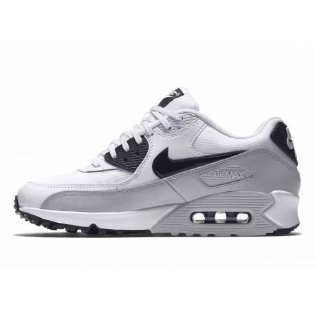 Nike Air Max 90 Essential Blanco Negro Gris Lobo para Hombre y Mujer
