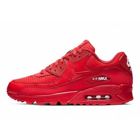 Nike Air Max 90 Essential Triple Rojo Universitario para Hombre y Mujer