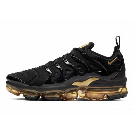 Nike Air VaporMax Plus Negro Metálico Dorado para Hombre