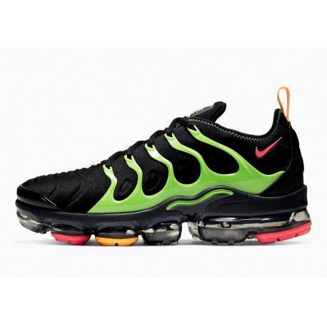 Nike Air VaporMax Plus Negro Verde Lima para Hombre