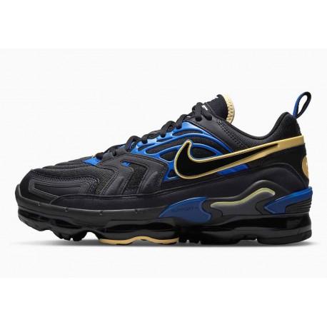 Nike Air VaporMax EVO Negro Azul Dorado para Hombre