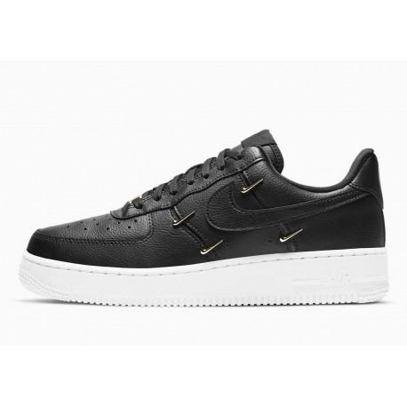 Nike Air Force 1 07 LX Negro Metálico Dorado para Hombre y Mujer