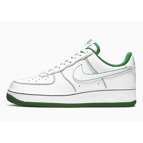 Nike Air Force 1 Bajo Puntada de Contraste Blanco Verde Pino para Hombre y Mujer