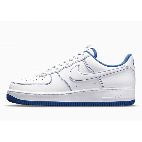 Nike Air Force 1 07 Puntada de Contraste Juego Azul Real para Hombre y Mujer