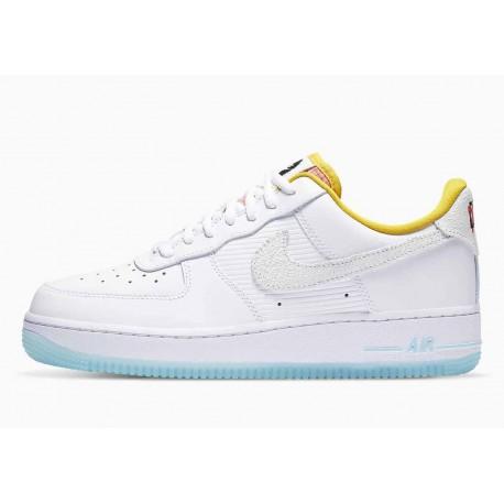 Nike Air Force 1 07 Bajo Mercados de Esquina Blanco Azufre Oscuro para Hombre y Mujer
