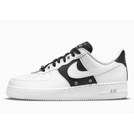 Nike Air Force 1 07 PRM Cadena Plateada Blanco para Hombre y Mujer