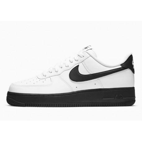 Nike Air Force 1 07 Bajo Blanco Entresuela Negra para Hombre y Mujer